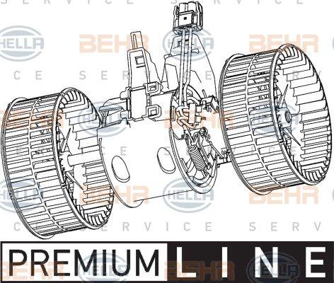 8EW 351 040-251 HELLA Intérieur Ventilateur