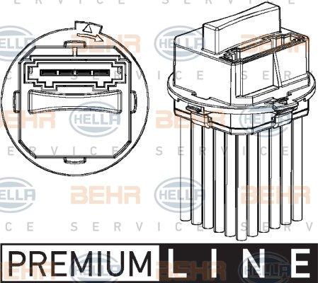 intérieur Ventilateur De Chauffage//ventilation HELLA 5 HL 351 321-301 Régulateur