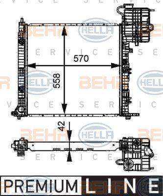 Motork/ühlung BEHR HELLA SERVICE 8MK 376 712-454  K/ühler