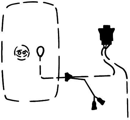 Raccord, rétroviseur extérieur