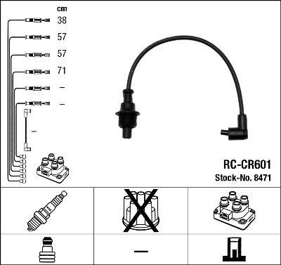 Kit de câbles d'allumage - RC-CR601
