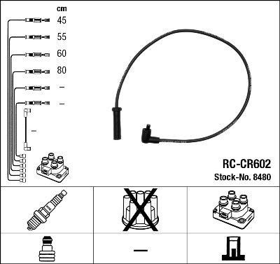 Kit de câbles d'allumage - RC-CR602