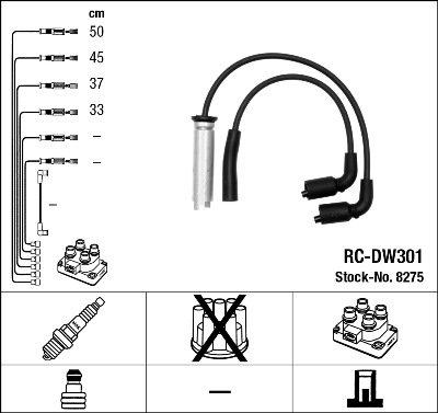 Kit de câbles d'allumage - RC-DW301