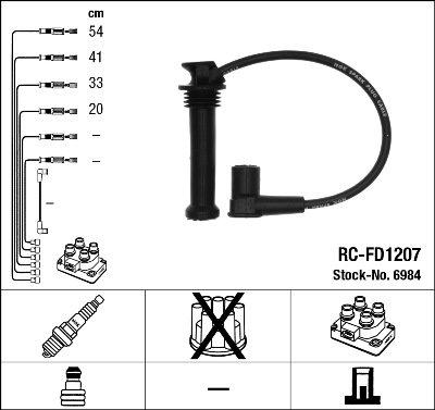 Kit de câbles d'allumage - RC-FD1207