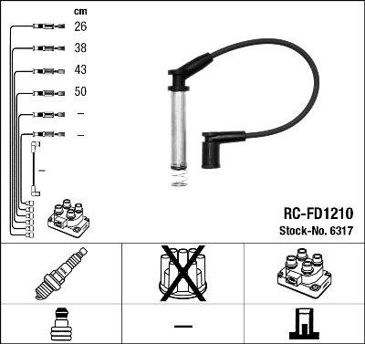 Kit de câbles d'allumage - RC-FD1210