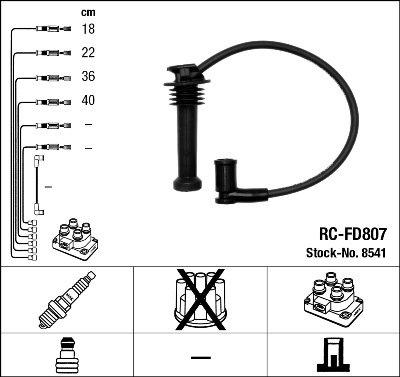 Kit de câbles d'allumage - RC-FD807