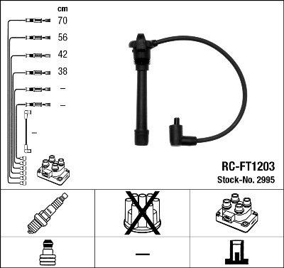 Kit de câbles d'allumage - RC-FT1203