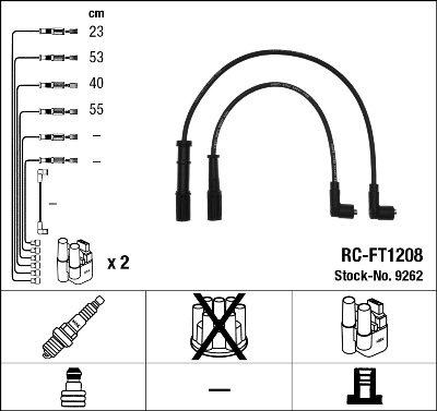 Kit de câbles d'allumage - RC-FT1208