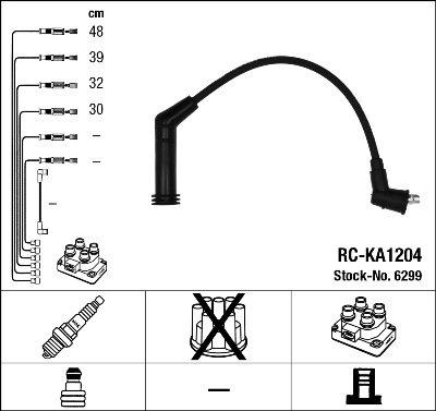 Kit de câbles d'allumage - RC-KA1204