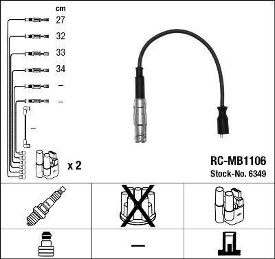 Kit de câbles d'allumage - RC-MB1106