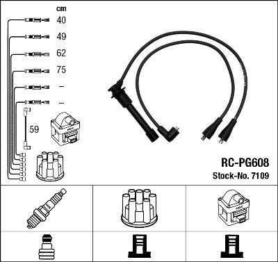 Kit de câbles d'allumage - RC-PG608