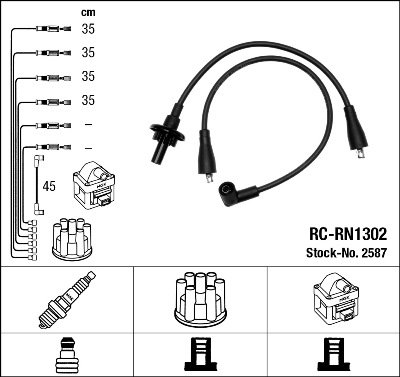 Kit de câbles d'allumage - RC-RN1302
