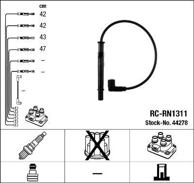 Kit de câbles d'allumage - RC-RN1311