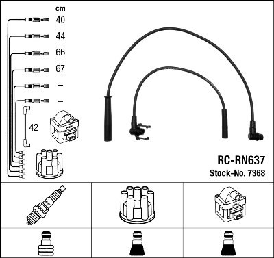 Kit de câbles d'allumage - RC-RN637