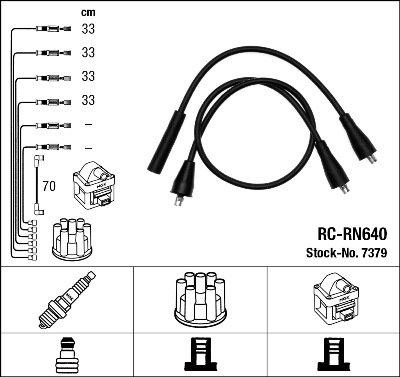 Kit de câbles d'allumage - RC-RN640