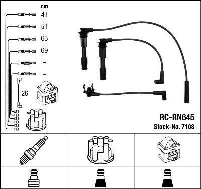 Kit de câbles d'allumage - RC-RN645