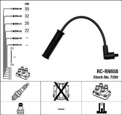 Kit de câbles d'allumage - RC-RN658