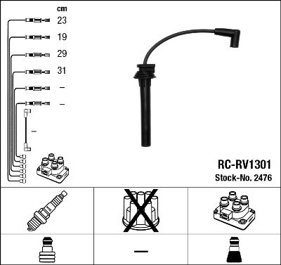 Kit de câbles d'allumage - RC-RV1301