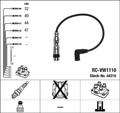 Kit de câbles d'allumage - RC-VW1110