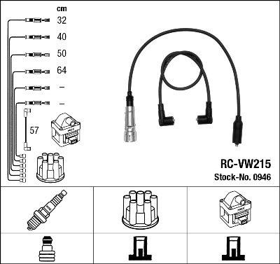 Kit de câbles d'allumage - RC-VW215