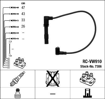 Kit de câbles d'allumage - RC-VW910