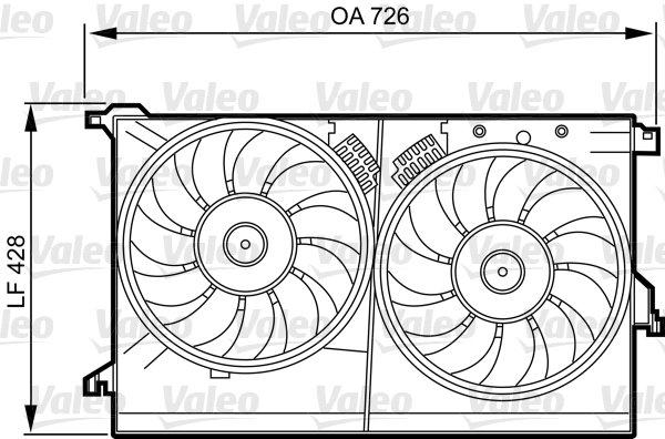 Support, ventilateur de radiateur