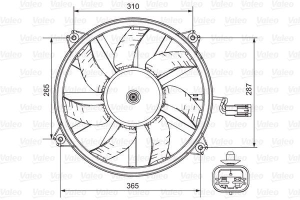 Ventilateur, refroidissement du moteur