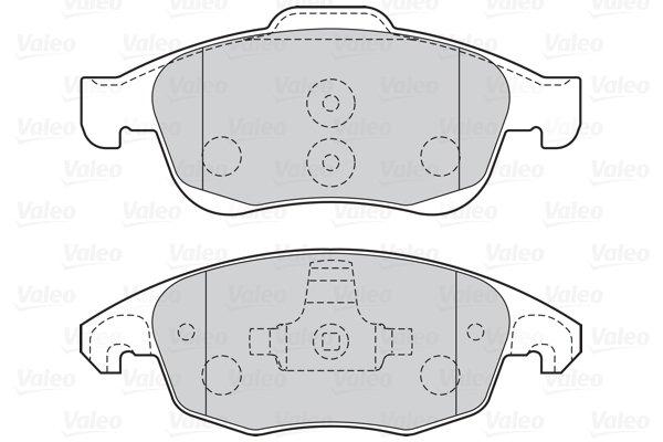 Kit de plaquettes de frein, frein à disque FIRST