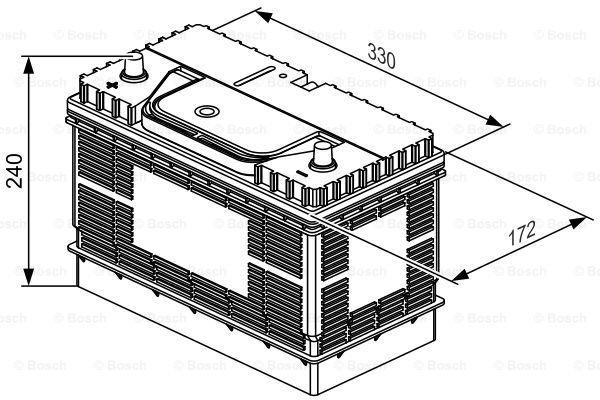 Batterie de démarrage T3 12V 105Ah