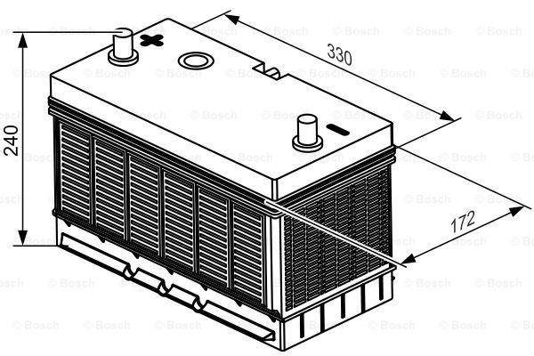 Batterie de démarrage SLI 12V 105Ah