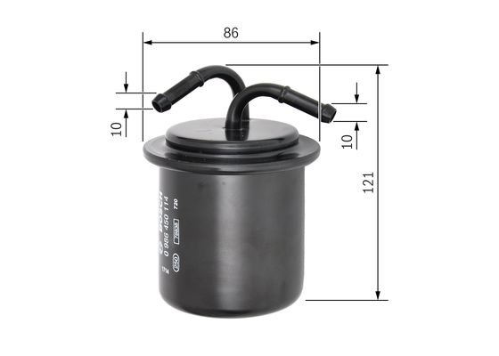 Bosch Filtre à carburant F0114 pour SUBARU FORESTER IMPREZA LEGACY OUTBACK 2.5 3.0 3.3