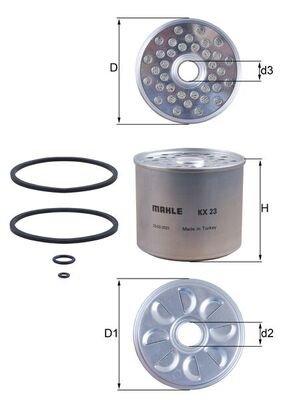 KNECHT Kraftstofffilter   für Iveco Daily II Kasten//Kombi Daily II Kipper