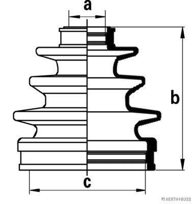 Jeu de joints-soufflets, arbre de commande