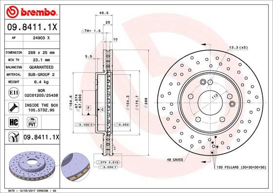 2 Pièce Disque de frein BREMBO MAX LINE-BREMBO 08.5178.77