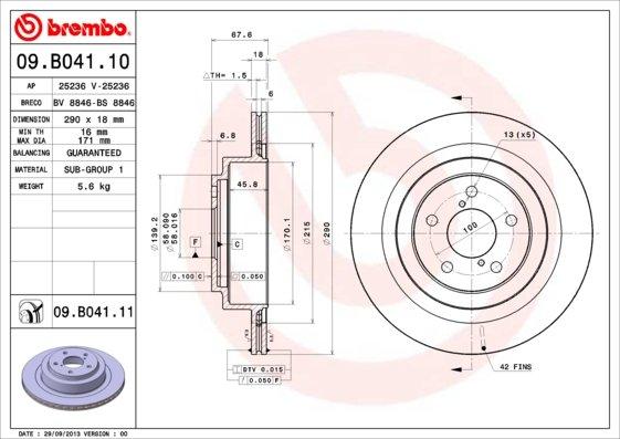 ARRIÈRE DELPHI Plaquettes Frein Disques De Lot 290 mm ventilé pour Subaru Legacy 3.0 R