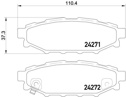 ARRIÈRE DELPHI Plaquettes de frein pour SUBARU FORESTER 2.0 S Turbo 2.5 2.5 XT 2.5 AWD