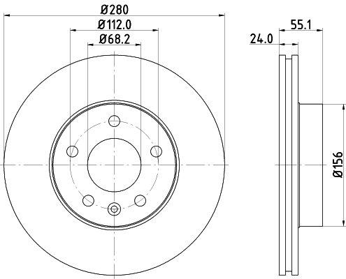 Bosch BD746 Jeu de 2 disques de frein