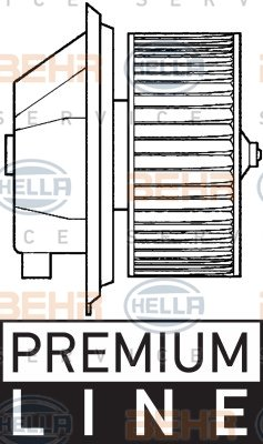 Pulseur d'air habitacle BEHR HELLA SERVICE *** PREMIUM LINE ***