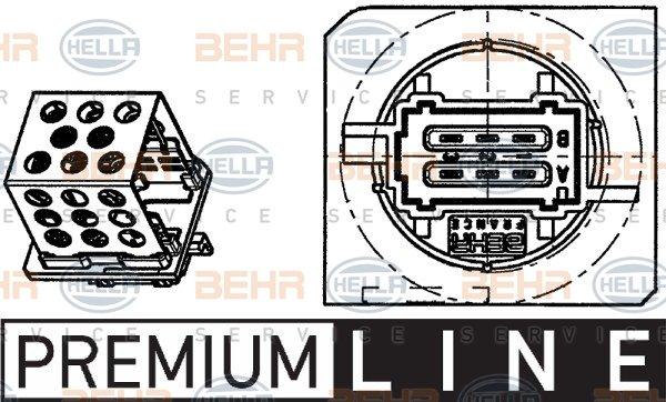 BEHR HELLA SERVICE 9ML 351 303-271 *** PREMIUM LINE *** Resitencia ventilador habit/áculo