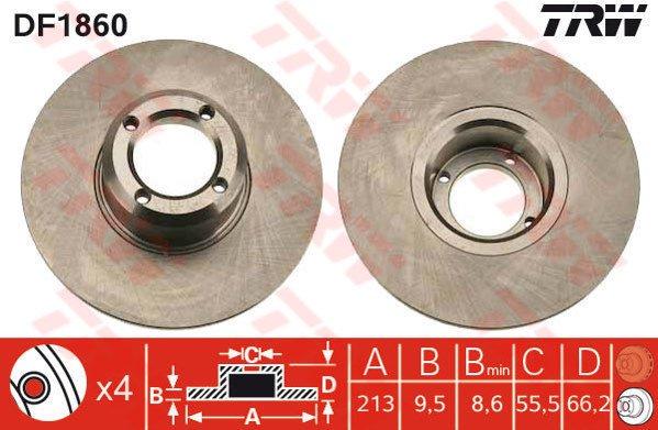 Mintex MDC396 Disque de frein avant
