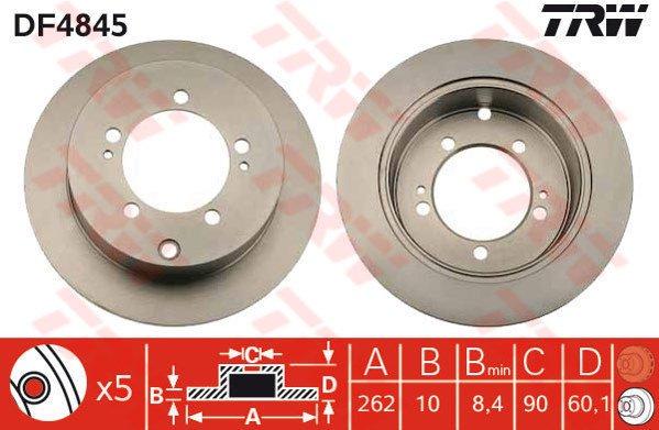 2 pièces NK 203042 Disque de frein
