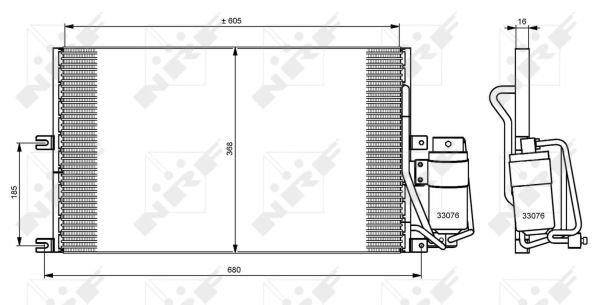 8FC 351 037-621 HELLA condenseur climatisation