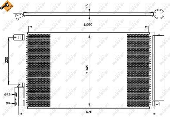 climatisation BEHR HELLA SERVICE 8FC 351 304-724  Condenseur