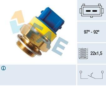 Interrupteur de température, ventilateur de radiateur