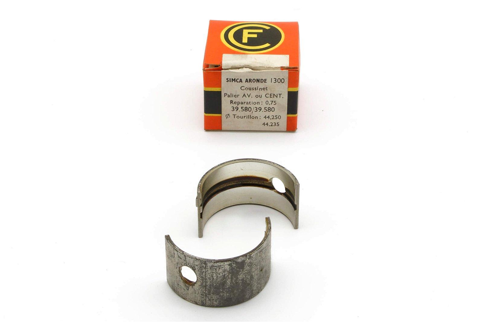 Coussinet Palier Av ou CENT 39.580 / 39.580  Réparation 0.75 Simca