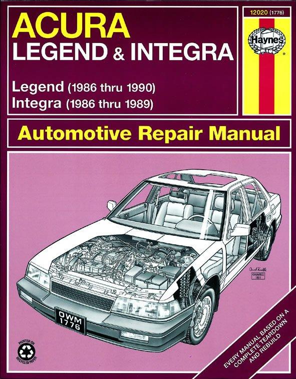 [Manuel US en Anglais] Acura Integra & Legend '86 -  '90