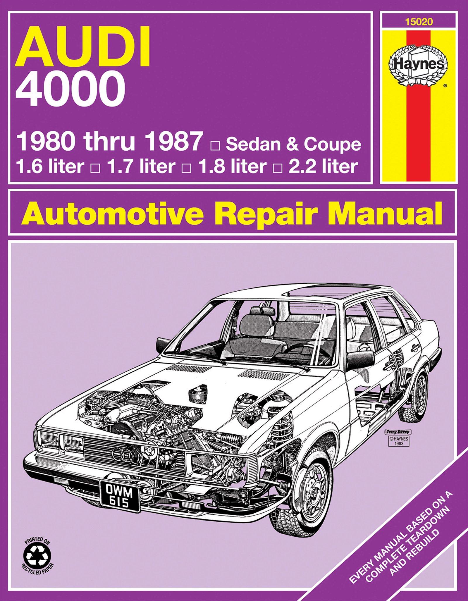[Manuel US en Anglais] Audi 4000  80 - 87