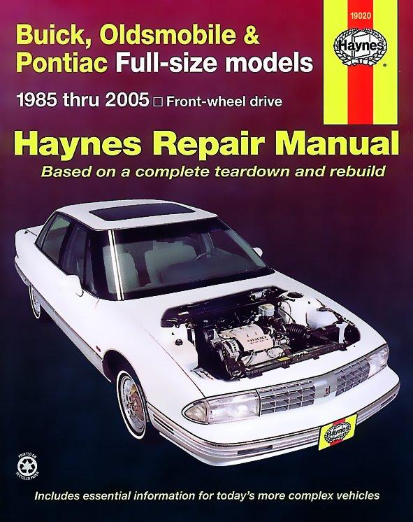 [Manuel US en Anglais] Buick, Oldsmobile & Pontiac Full-size  '85 -  '05