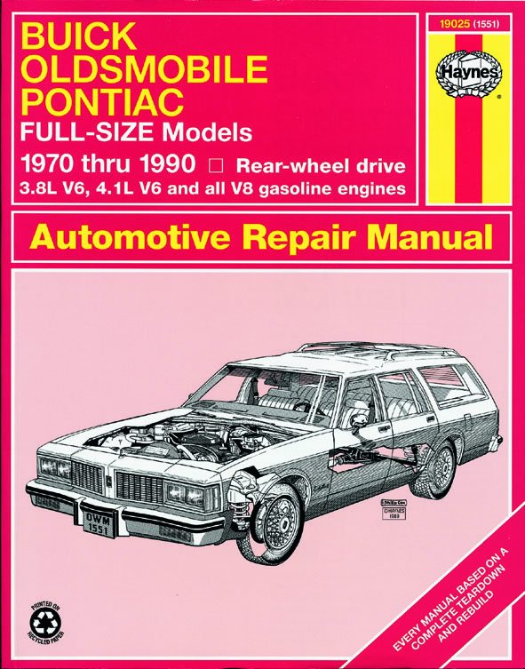 [Manuel US en Anglais] Buick, Oldsmobile & Pontiac Full-size (RWD)  '70 -  '90
