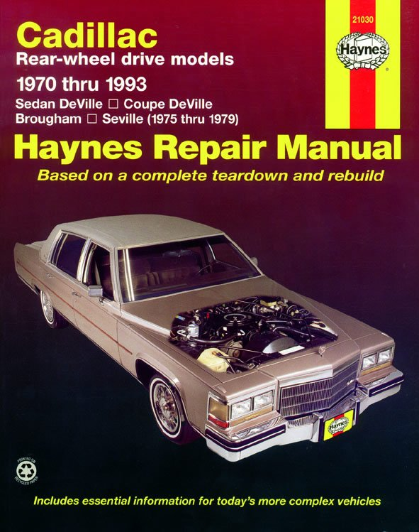 [Manuel US en Anglais] Cadillac Rear-wheel drive  '70 - 93'
